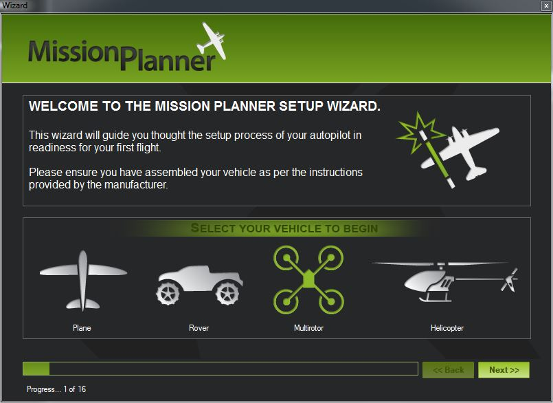 Picture of Setting Up Mission Planner