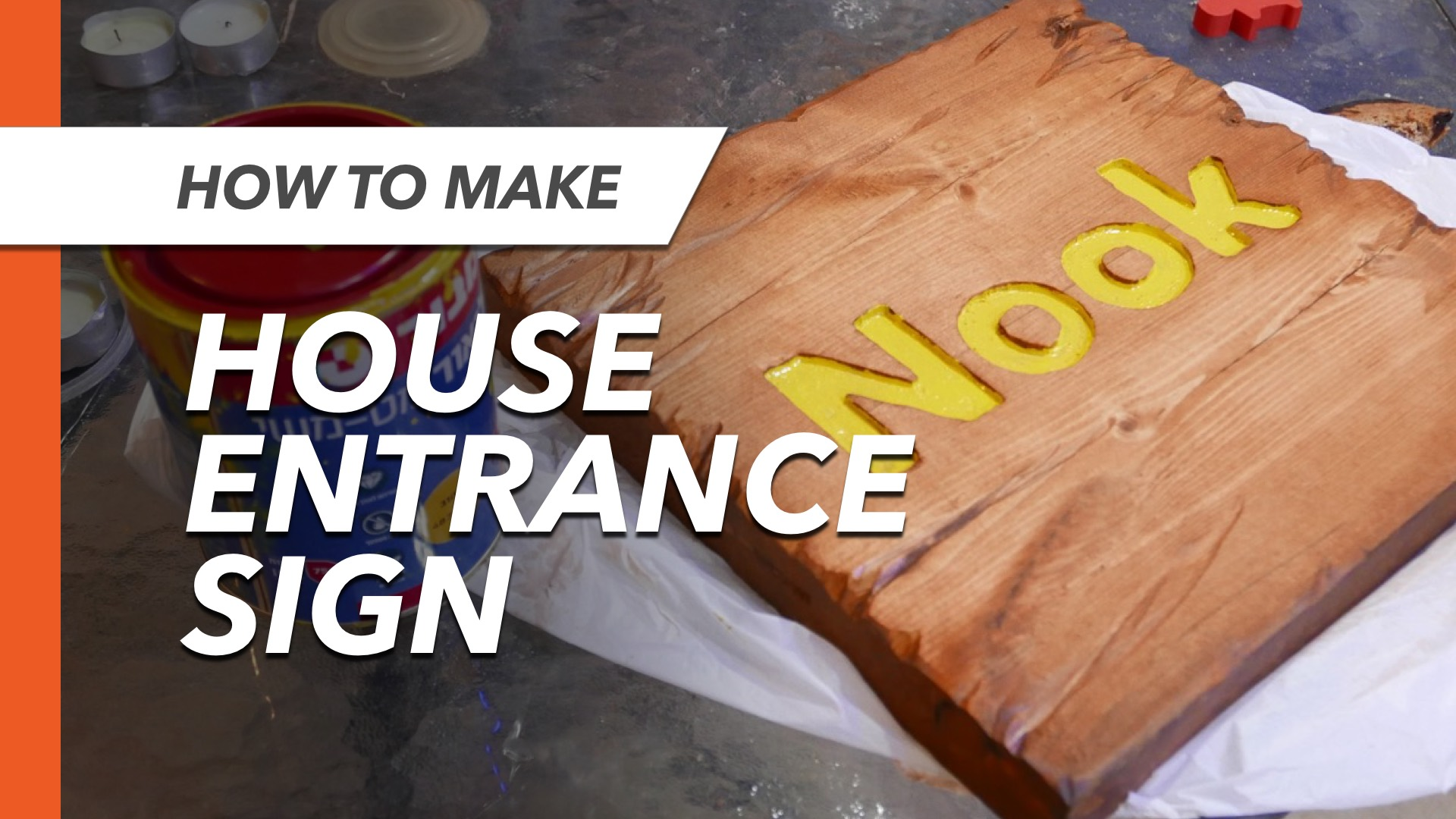 Picture of Distressed Wooden Entrance Sign for Our House