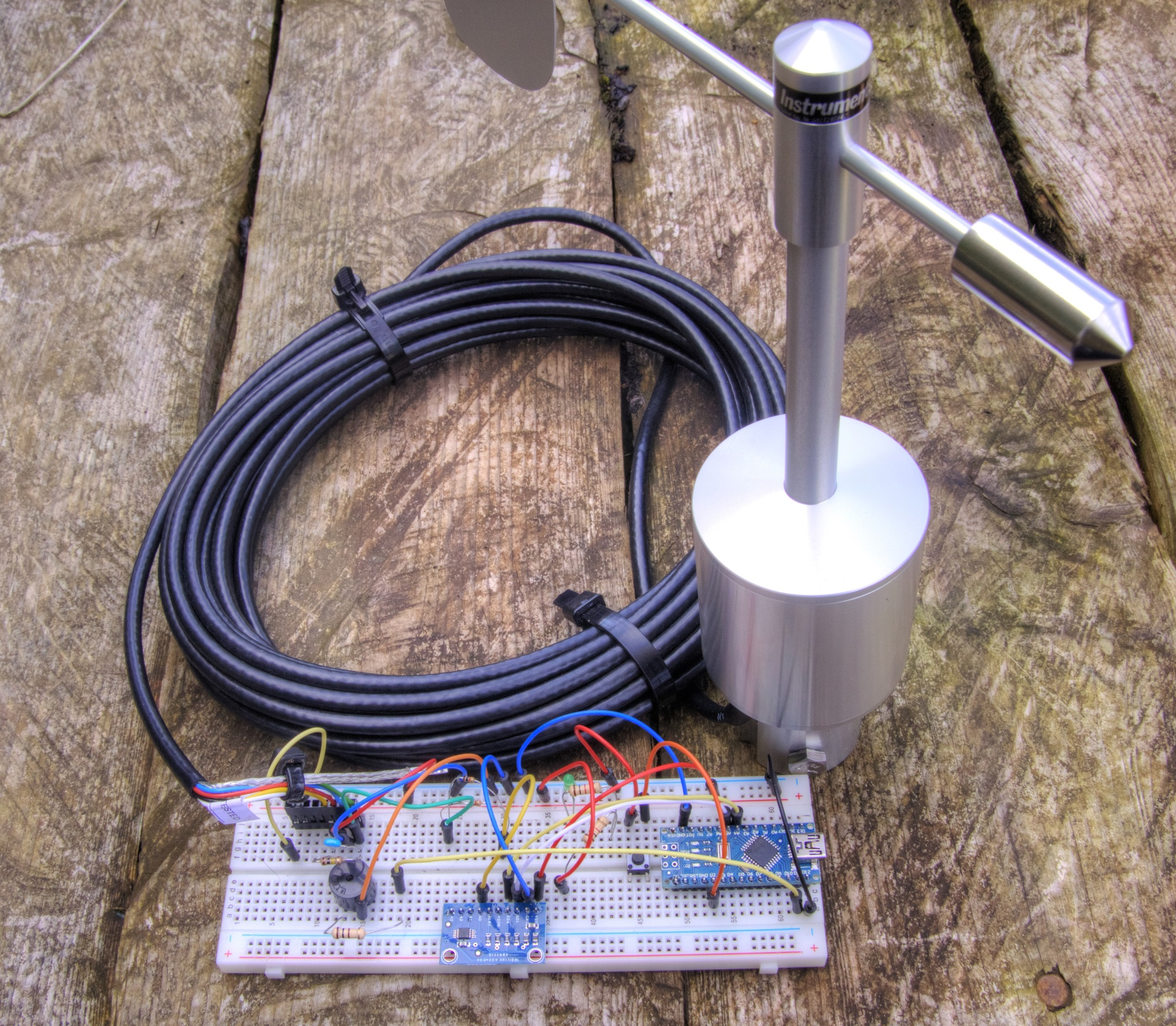 Project Arduino Gprs Iot Weather Station 61 Breadboarded High Pass Filter As The Amazing Online Continues We Have Yet Another Upgrade To Vast Array Of Sensors With A Professional Analogue Wind