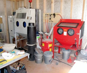 Footswitch Operated Sandblasting System