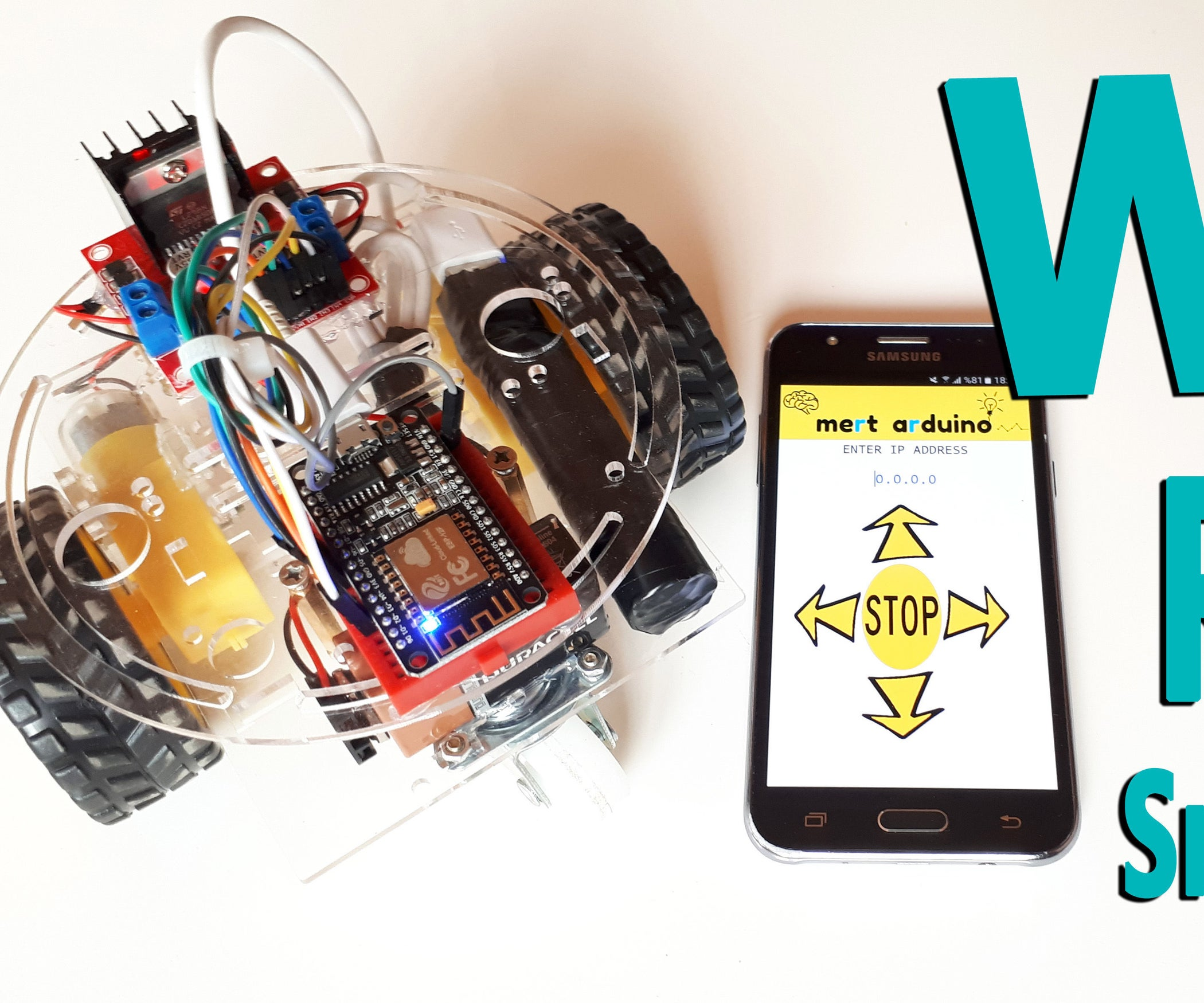 Nodemcu Esp8266 Wifi Robot Car Controlled By Application Bot Metal Detector With Android Remote Control Robotic Kits Iot 3 Steps
