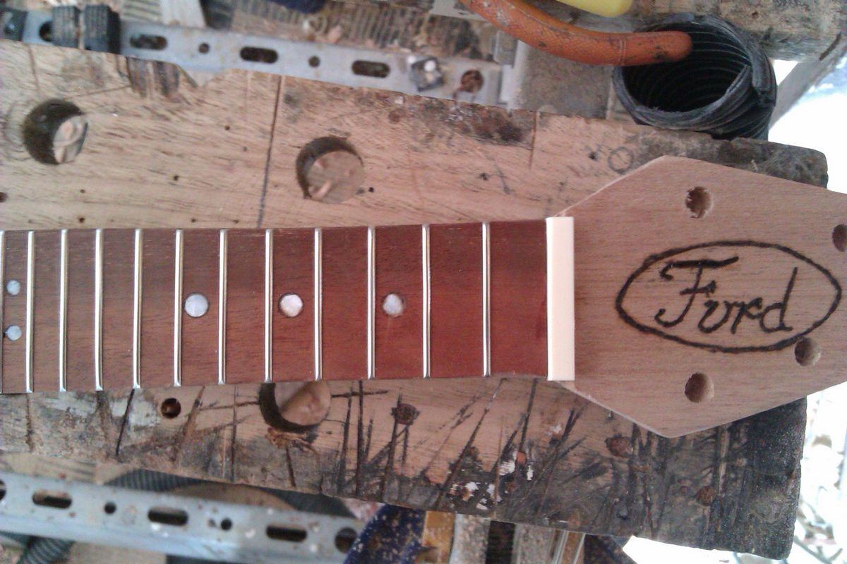 Picture of Decorate Your Headstock and Add a Nut