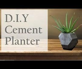 Eco-Friendly DIY Cement Planters