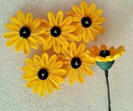 2D-3D Quilled Flowers Tutorial