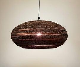 Lasercut Cardboard Lampshade