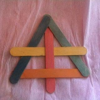Popsicle Stick Ninja Star