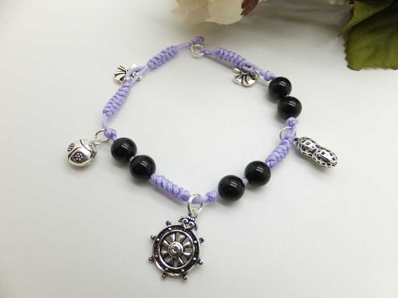 Michaels Crafts Ideas: Handmade Bracelets With Black Agate ...
