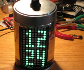 Building IllyClock - Arduino-based alarm clock in a coffee can