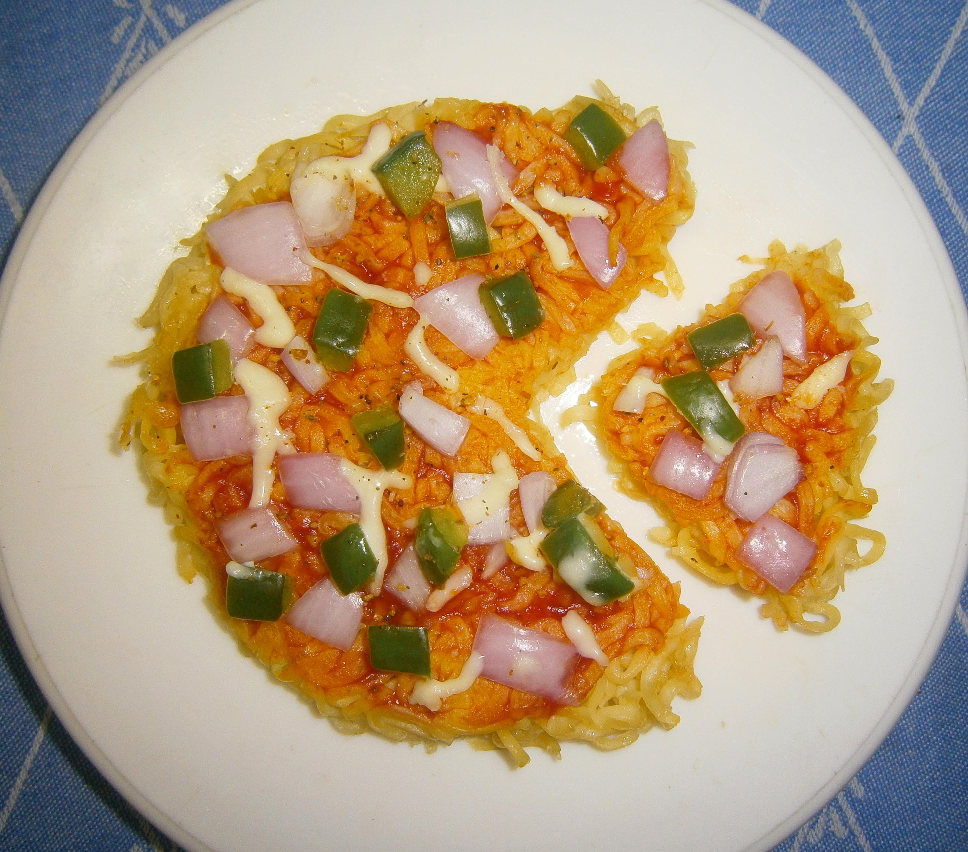Picture of Dorm Noodle Crust Pizza (Iron Box Hack)