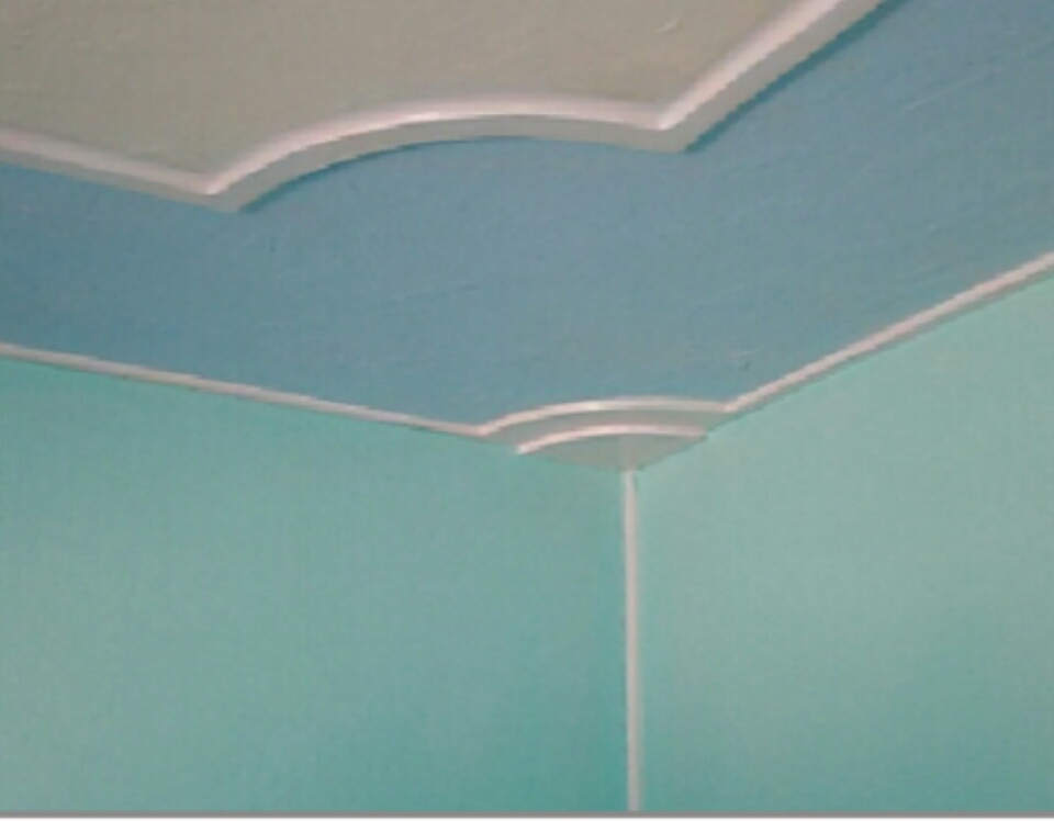 Picture of DIY by Hand Bedroom Celling & Wall Designing