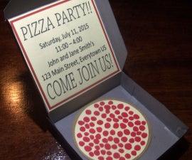 Pizza Box Party Invitation
