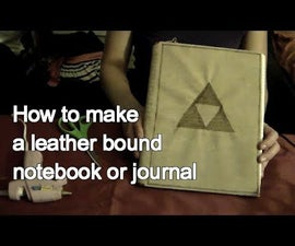 How to Make a Leather Bound Journal or Notebook