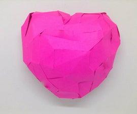 3D Papercraft Heart -- Without a 3D Printer!
