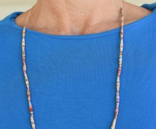 Japanese Paper Bead Necklace