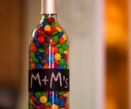 Chalkboard Painted Wine Bottle