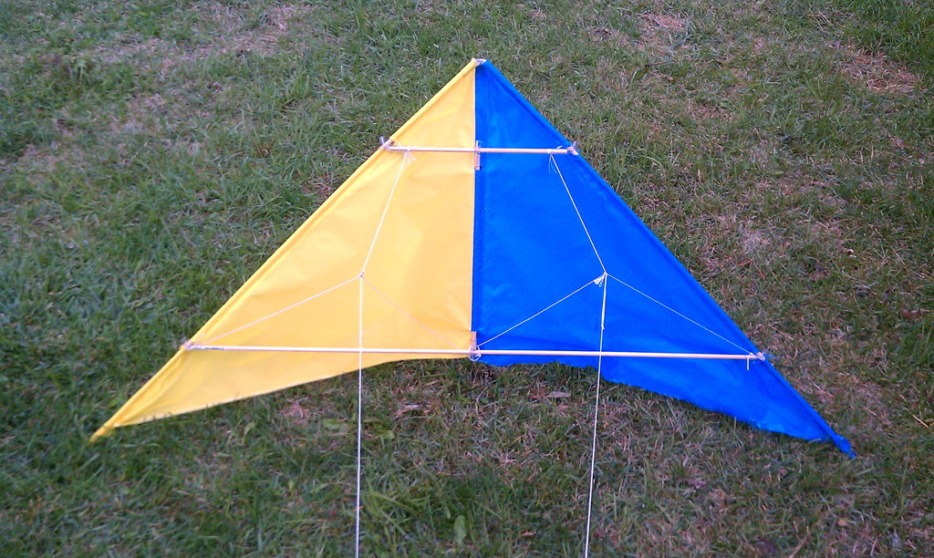 Picture of Fabric Stunt Kite From Scratch.. With No Sewing!