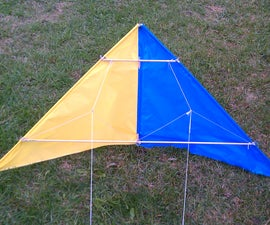 Fabric stunt kite from scratch.. With no sewing!