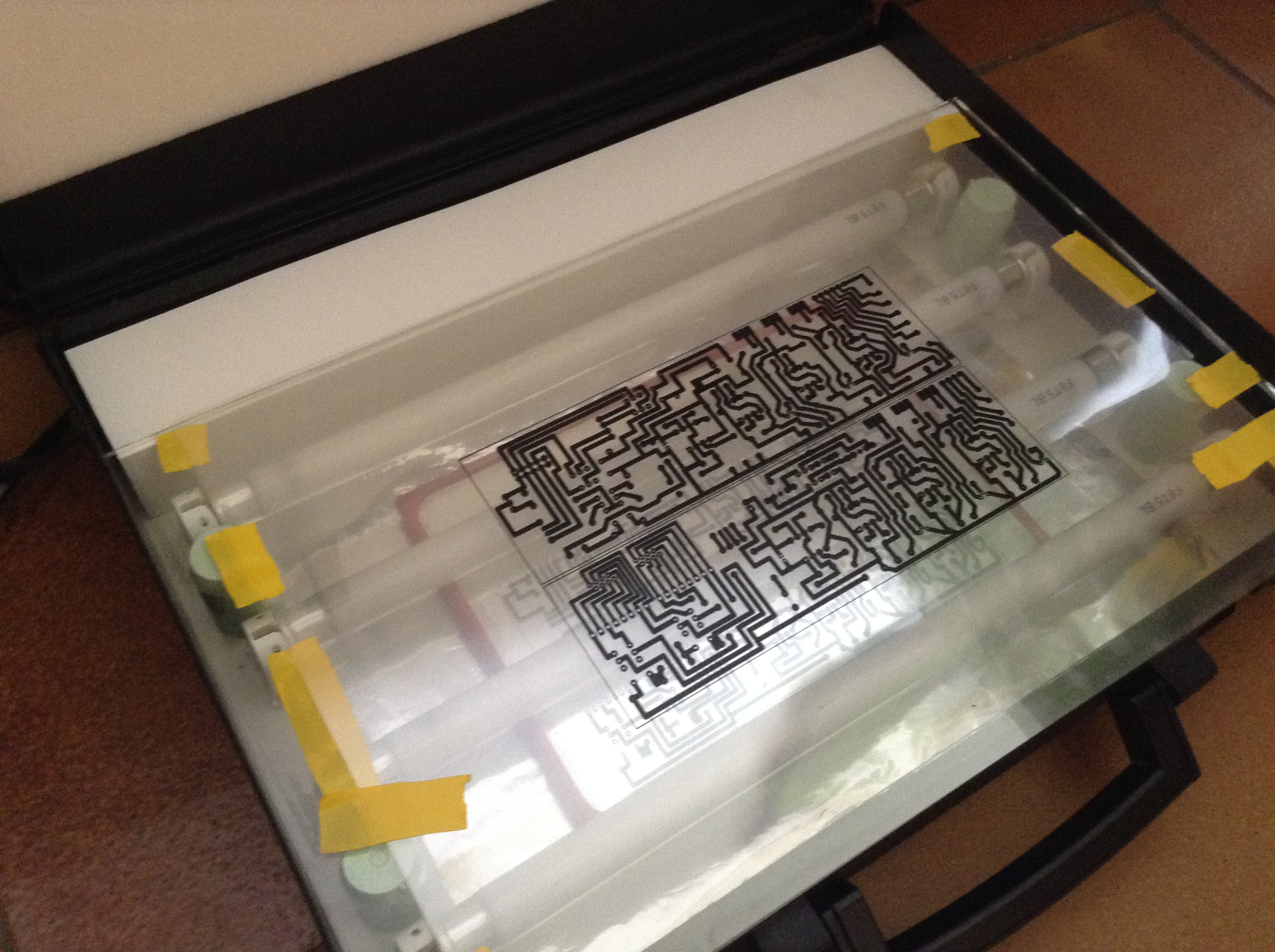 Picture of Exposing the PCB