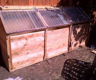 Chicken-Powered Three-Stage Compost Bin - Photos