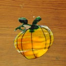 White Glue Pumpkin Ornament