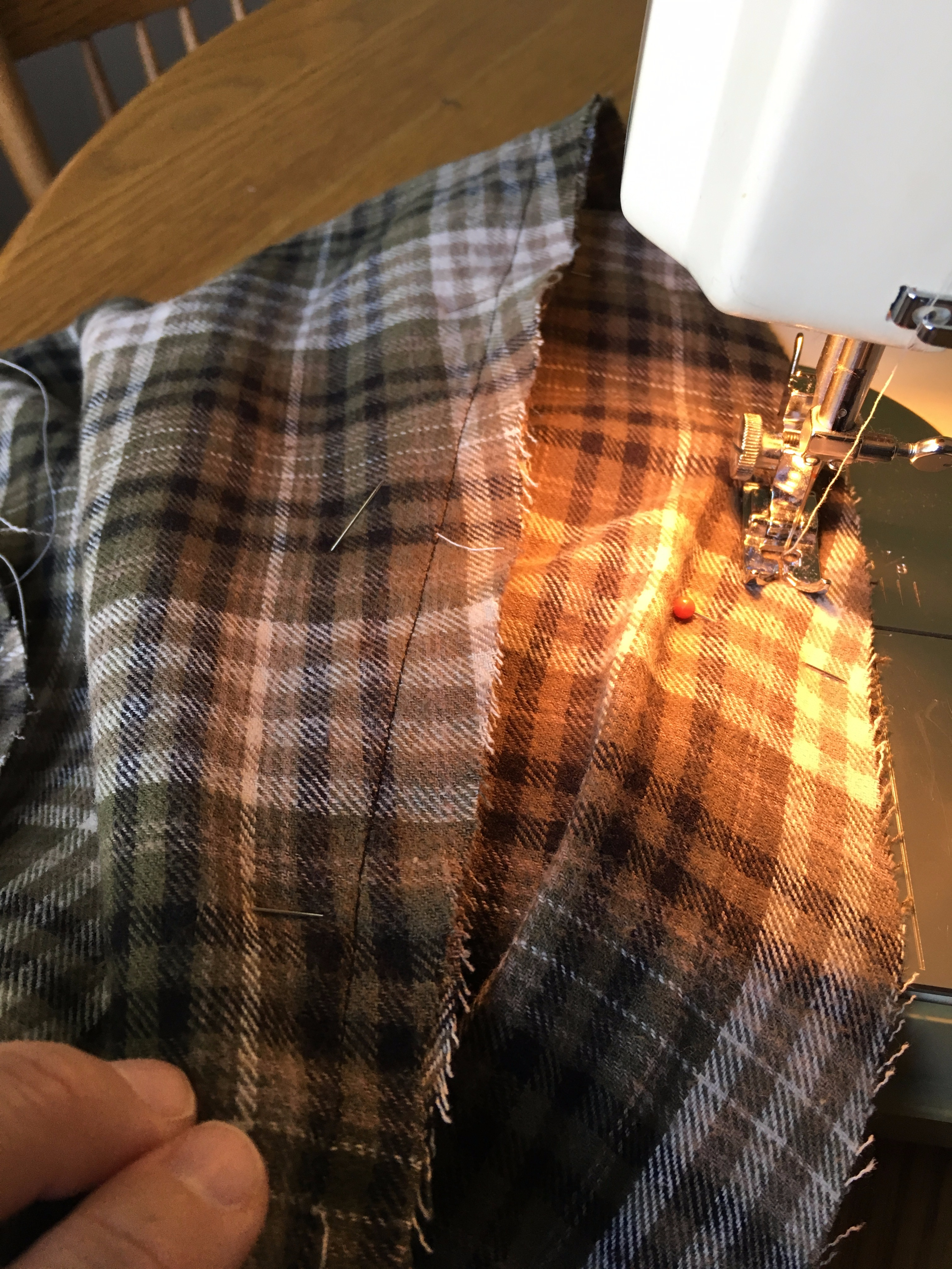 Picture of Sewing the Inner Seam of Each Pant Leg
