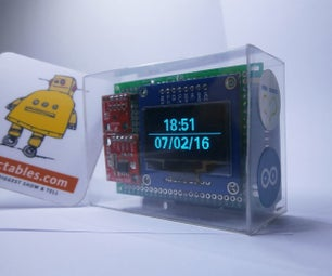 ThermoClock: an OpenSource Arduino UNO OLED Clock That Also Measures Temperature