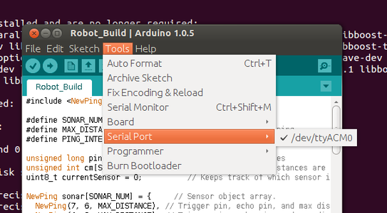Sending Your Code to the Arduino