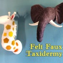 Felt Faux Taxidermy Heads