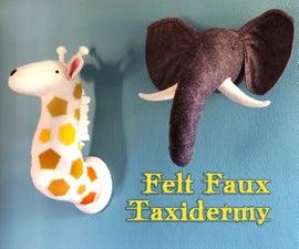 Felt Faux Taxidermy Heads