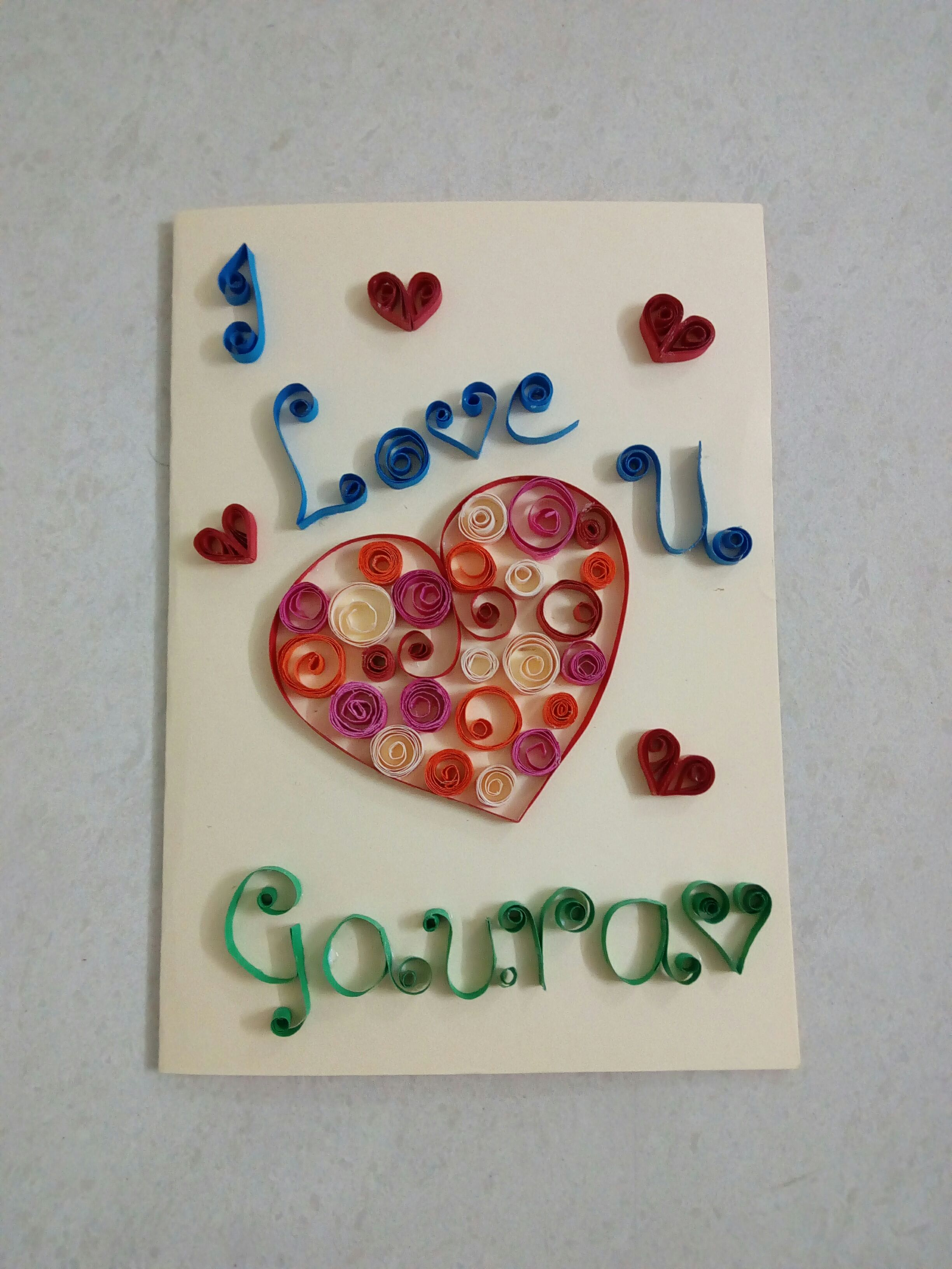Picture of Quilling Valentine Card