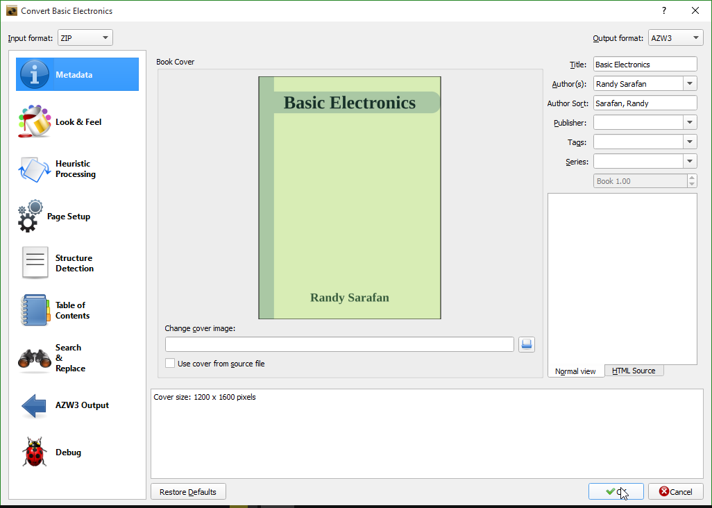 Picture of Convert the EBook for Your Device