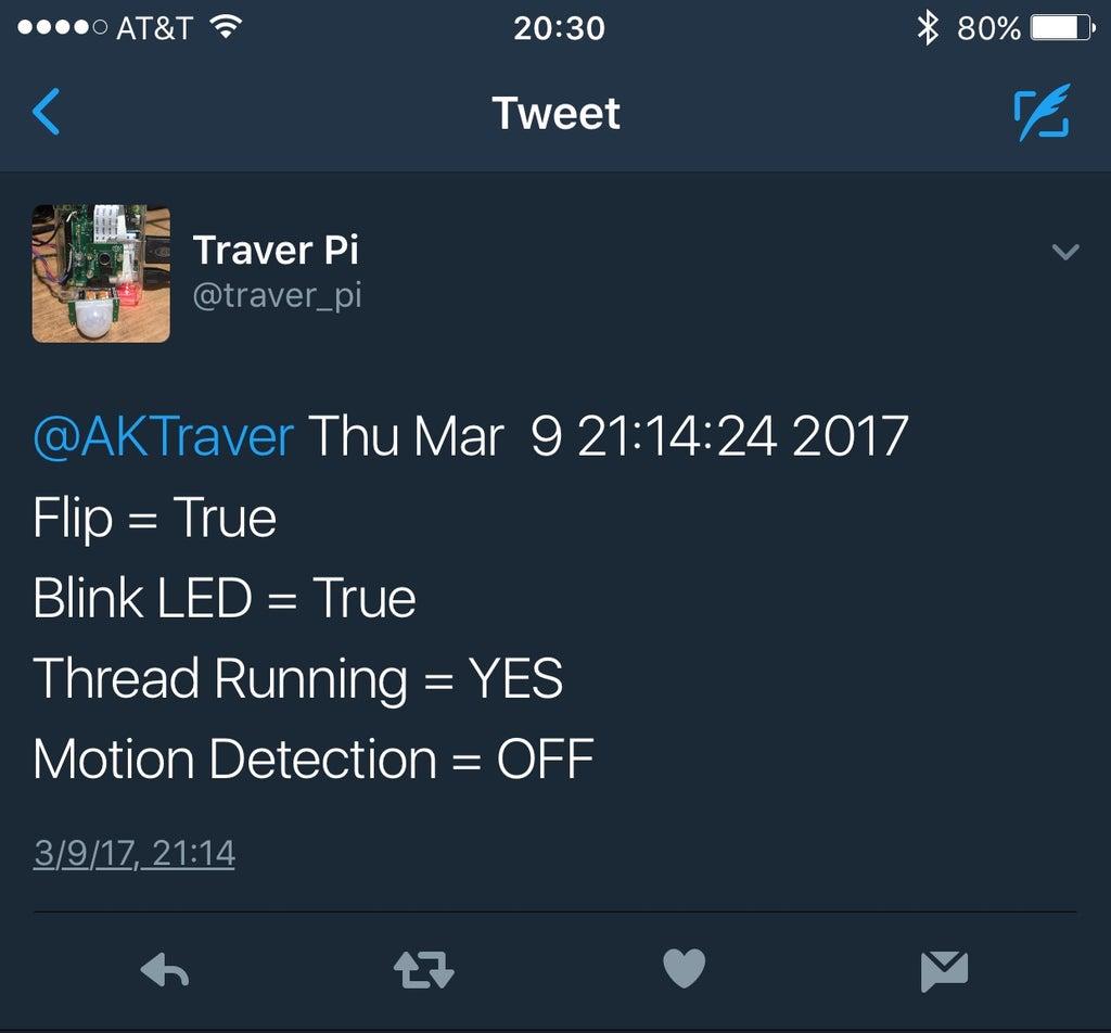 TwitterPi - Motion Alerts - Send Pics to Twitter - Send