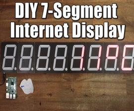 DIY Big 7-Segment Internet Display