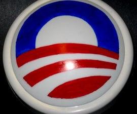 Obama campaign Logo Lamp - Light up for Obama