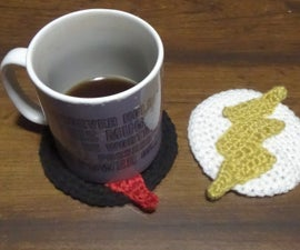 How to Crochet the Flash and Reverse-Flash Logos