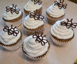Organic Honey-Walnut Cupcakes w/ Honey-Vanilla Whipped Cream