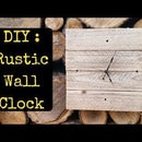 Pallet Wood Rustic Wall Clock