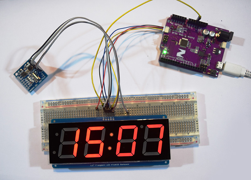 Picture of A DIY Clock With All I2C Compatible Components