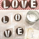 Stenciled Love Letter Cookies