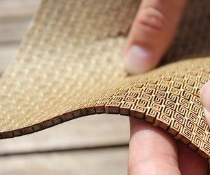 Super Flexible Double Curvature Surface - Laser Cut Plywood