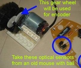 Gear With Optical Encoder on a Gear Wheel