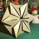 3D Gold Star Greeting Card