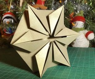 3D Gold Star Greeting Card
