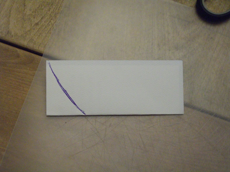 Picture of Use the Paper/carboard to Make a Stencil.