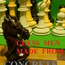 Chess Pieces Made of CONCRETE!