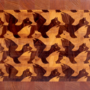 "Making a M.C.Escher's ""Winged Lion"" end grain cutting board"