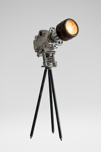 Picture of Old Camera Style Lamp Made From Scrap, Fullmetal