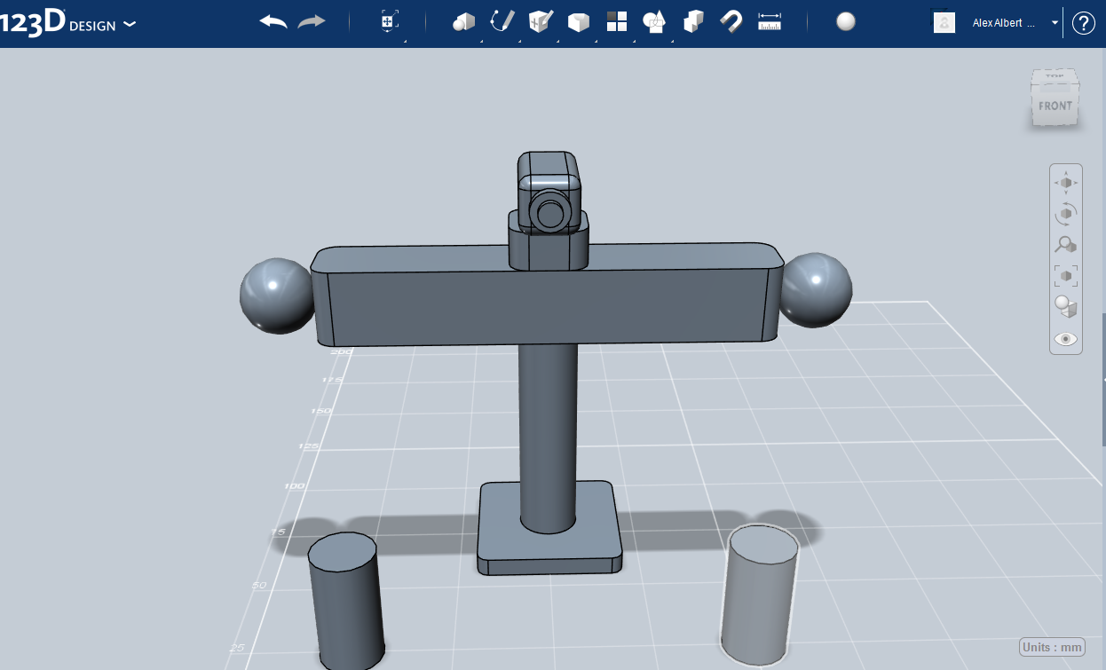 Picture of Making the Camera and Part of the Arm