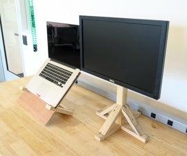 Minimal Modern Wood Computer Stands