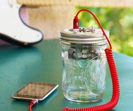Mason Jar Portable Speaker & Guitar Amp